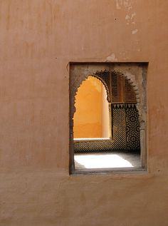 "This would be one of those, ""Sam, we can't just stay here all day and look at the  window"" moments."" The Alhambra, Granada."