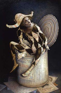Claude Verlinde,  Art, Painting, Harlequin, French, Ephemera, show, act…