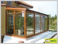 ogród zimowy - oranżeria: projekt i wykonanie www.polis.com.pl Green Life, Interior Inspiration, Yard, Patio, Windows, Glass, Ideas, Home Decor, Frosting