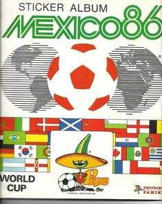 Panini World Cup Mexico 86 (Ex Album) Italy: Seven Stickers ~ Players & Emblem Retro Football, World Football, Soccer World, Football Kits, Vintage Football, Sport Billy, Old Football Boots, World Cup Tickets, Mexico 86