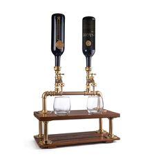 Zwei Flasche Schnaps Spender personalisierte Home Bar | Etsy Whisky, Diy Home Bar, Liquor Dispenser, Table Bar, Stemless Wine Glasses, Perfect Gift For Him, Monogram Logo, Artisanal, Messing