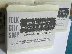 Soap to wash away the writer's block