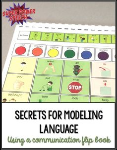 Are you wondering the best way to model language for early communicators? This post describes seven secrets to modeling with a communication flip book. There is even a video modeling how to do it yourself!