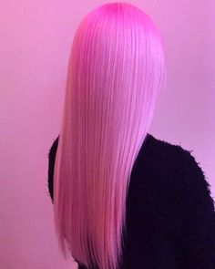 Candy floss finish pink hair