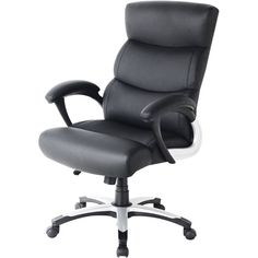 CorLiving - Workspace 5-Pointed Star Nylon Foam Leatherette Chair - Black