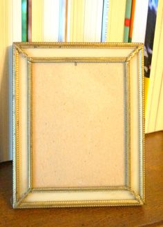 Vintage Gold Tone Photo Frame by AmyFindsEverything on Etsy