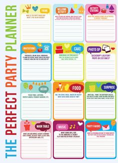 The Perfect Party Template.  A free download that works no matter what your theme or age group!