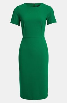 Topshop 'Elfin' Midi Pencil Dress Emerald Green