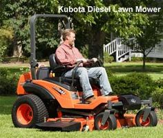 kubota diesel zero turn lawn mower.  (My wife would probably kill me if I came home with this one) lol Nice machine!!