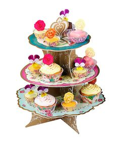 Look at this Regal Three-Tier Cake Stand on #zulily today!