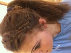 Sports hair. French braid into pony!