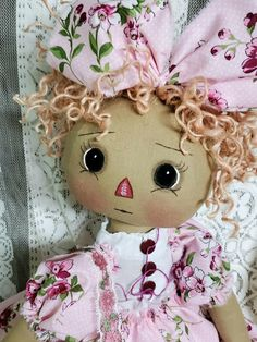 Craft Patterns, Doll Patterns, Doll Face Paint, Scarecrow Crafts, Ann Doll, Raggedy Ann And Andy, Primitive Folk Art, Sewing Dolls, Rag Dolls