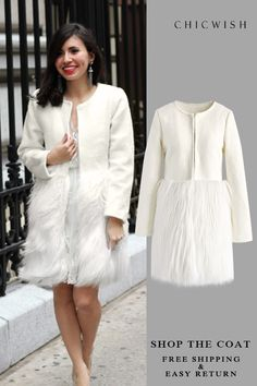 New Dress Winter Wedding Faux Fur 60 Ideas Mode Unique, Unique Fashion, Womens Fashion, Work Fashion, Cute Coats, Mode Blog, Winter Dresses, Dress Winter, Autumn Winter Fashion
