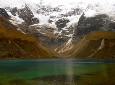 Most majestic place I have been. Day 1 of the Salkantay trek. Glacier Lake Humantay, Peru #peru #travel #southamerica