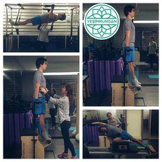 """Erinç Bey ile keyifli dersimizden kareler :) #yesimmungan #studiojade #goodmorning #pilates #pilatestherapy #hamilepilatesi #rehabpilates #yoga #hathayoga…"""