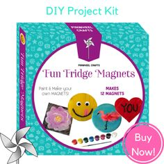 #DIY Fun Fridge Magnets Kit - now $16.95 at Pin Wheel Crafts ➡️ buy now: https://pinwheelcrafts.com/collections/frontpage/products/fun-fridge-magnets?platform=hootsuite ⬅️