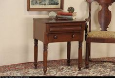 Empire 1840 Antique End Table Nightstand or End Table