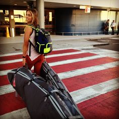 All packed up!   Team Rider Sally Fitzgibbons jet-setting to Hawaii for a Roxy photo shoot with her boards & #ROXYOutdoorFitness backpack in tow.