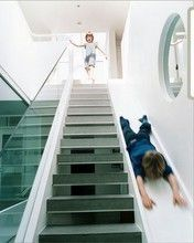 Sometimes stairs can be very boring. That is why some creative people decide to make indoor slides. Indoor slides are very fun and exciting. Home Design, Interior Design, Design Ideas, Modern Design, Interior Decorating, Decorating Ideas, Design Inspiration, Modern Interior, Decor Ideas