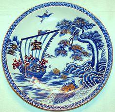 Google Home u0026 Chromecast Video Bundle. Decorative PlatesGold ...  sc 1 st  Pinterest & Details about Vintage 1949 Winfield Dragon Desert Flower Porcelain ...