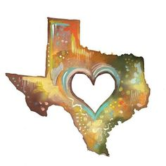 Texas - 11x14 ($25) ❤ liked on Polyvore featuring home, home decor, wall art, art, water color painting, daisy painting, watercolor painting, watercolor wall art and watercolor bird paintings