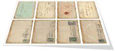 Vintage Postcard Tags Printable