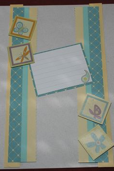 cabana paper and spring stickers