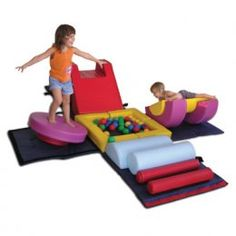 This would be an excellent thing to put in a playroom to encourage gross motor!