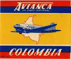Vintage Aircraft scadta ) avianca - Colombia airline (Oldest airline of . Backpacking South America, South America Travel, Retro Airline, Colombia Travel, Luggage Labels, Vintage Airplanes, Vintage Travel Posters, Latin America, Travel Inspiration