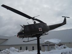 """This picture in winter view is from my video titled """" Military Helicopter On Display """" that can be viewed at youtube.com/viewwithme ."""