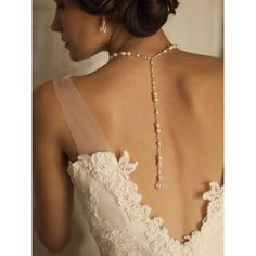 Pearl wedding necklace with trendy back drape Hollywood glam style features classic pearls. Adjustable bridal necklace with 7 inch back tail finish with a crystal teardrop. choice of white or ivory faux pearls. Bridesmaid Jewelry Sets, Bridal Jewelry Sets, Bridal Sets, Bridal Accessories, Wedding Jewelry, Gold Wedding, Dream Wedding, Bridal Jewellery, Gatsby Wedding