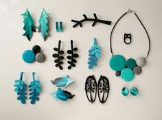 Gorgeous Scandinavian-esque designs in blues and greens : NADA jewelry