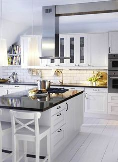 black and white modern kitchen colors Contemporary Modern Kitchen Colors