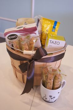{The cold getting to you? How about a #coffee, #tea, or #hotchocolate basket, and a few #biscotti for good measure!} - #giftbasket #utahgifts #sweetwilliamfloral