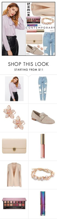 """Casual and Simple"" by piloariass on Polyvore featuring moda, Topshop, NAKAMOL, Saks Fifth Avenue, Alexander McQueen, tarte, Pinko, Chan Luu, Anastasia Beverly Hills y Urban Decay"