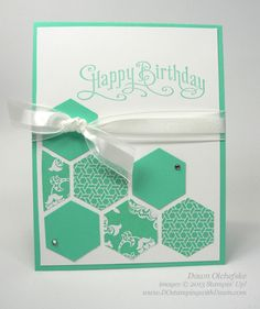 Pertectly Penned Hexagon Birthday by dostamping - Cards and Paper Crafts at Splitcoaststampers