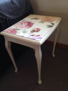 I call her Annie. Upcycled Queen Anne table, resin top.