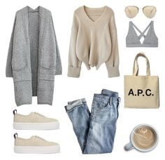 """""""Unbenannt #606"""" by fashionlandscape ❤ liked on Polyvore featuring J.Crew, A.P.C., Miu Miu, T By Alexander Wang and Eytys"""