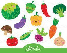 Cute vegetable clipart Veggie clipart 15063