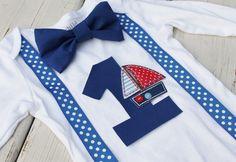 Nautical Birthday Onesie Sailor Onesie by CrestlineCreatives, $21.99