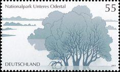 Unteres Odertal National Park Parks In Deutschland, German Stamps, Science And Nature, Postage Stamps, Ephemera, Flora, Snow, Film, Gallery