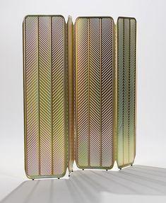 "Tom Dixon aluminum/zinc ""Stamp"" screen | TheModernSybarite"