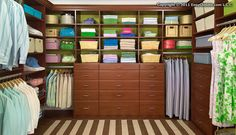 Organized, efficient, gorgeous; who wouldn't love this walk-in closet?