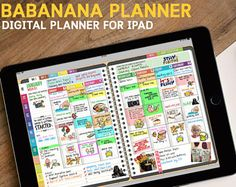BabaNaba Digital Planner for GoodNotes with functioning tabs : UNDATED SUNDAY Version