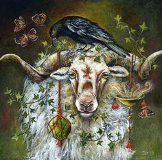 Animal Paintings, Animal Drawings, Art Drawings, Raven Art, Photo D Art, Cute Animal Pictures, Whimsical Art, Spirit Animal, Altered Art
