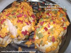 Cheesy+Goldfish+Crusted+Garlic+Chicken