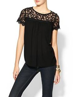 loose tops are your friend.  inwaist holster, belly band, flashbang, ankle holster     Ella Moss Victoria Short Sleeve Lace Top | Piperlime
