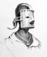 Image, Metal Face Mask and Collar Punishments, Trinidad, c. 1830s, Richard Bridg  Atlantic Slave Trade and Slave Life in the Americas: a visual record