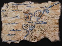 What every  art summer camp needs? ..  make your own pirate treasure map!