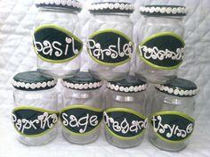 Handmade Polymer Clay Decorated Spice Jars. $20.00, via Etsy.